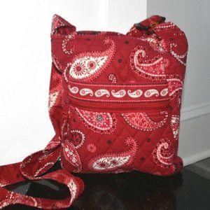 VERA BRADLEY Mesa Red Quilted Crossbody Bag